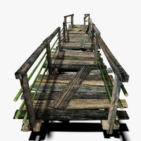 old plank bridge 3d max