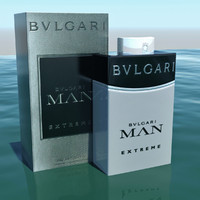 3d model of perfume bvlgari man