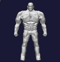 3d strong guy model