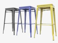 3d 3ds stool bar tolix