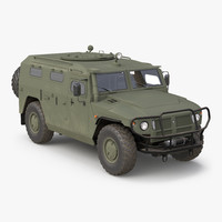 3d model russian mobility vehicle gaz