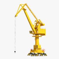 level luffing port crane max