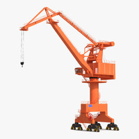 level luffing port crane obj