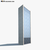 high-rise modelled 3d 3ds