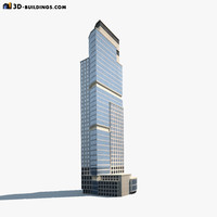 3d high-rise building modelled