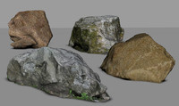 3d rocks model