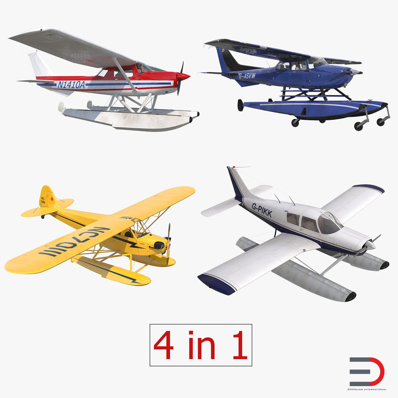 Seaplanes Collection 3d models 01.jpg