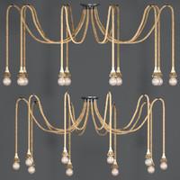 3d model chandelier loft rope