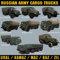 Russian Army Cargo Trucks