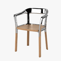magis steelwood chair 3d max