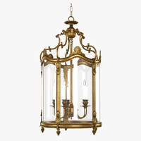 3d model chandelier empire lantern french