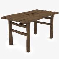 table rustic 3d model