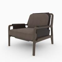 3d model caste fergus lounge chair