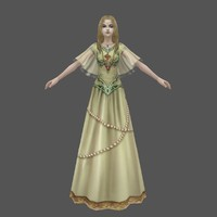 3d princess ready model