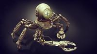 3d model robot diver