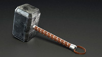 hammer thor 3d obj