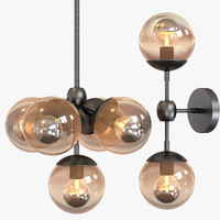 3d chandelier 5 light
