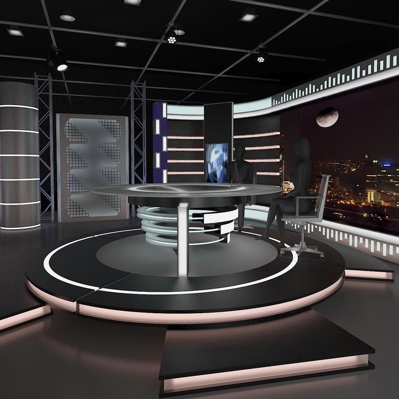 Modern Exhibition Stand Questions : D news studio model