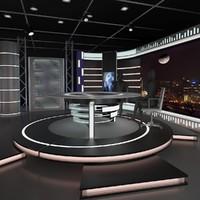 3d news studio 011 model