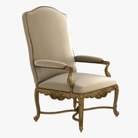 luxury historic armchair 3d model