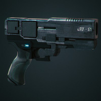 3d futuristic gun lax-51 model