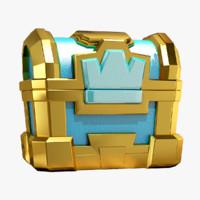 clash crown chest 3d model