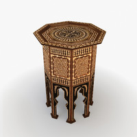 moroccan furniture turkish 3d model