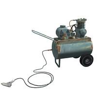 3d vintage air compressor