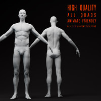 realistic male body 3d max
