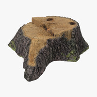 obj tree stump 01