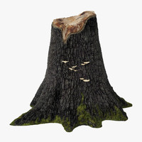 3d tree stump 03 model