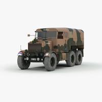 ww2 scammell r100 gun tractor 3d 3ds