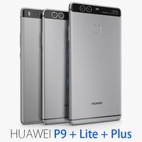 huawei p9 3d model