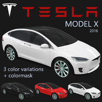 electric tesla x 2016 3d 3ds
