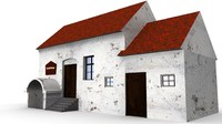 3d house engraving model