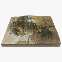 volcano landscape 8 3d model