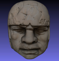 basalt olmec head 3d 3ds