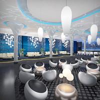 exclusive lounge interior night club max