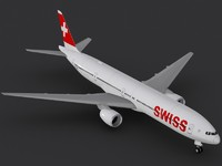 boeing 777-300 swiss international 3d max