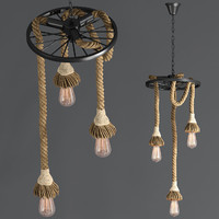 3d model of hanging lamp loft