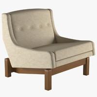 armchair paraty linbrasil 3d max