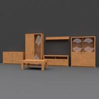 3d cabinet pbr details