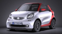 3d model of smart fortwo cabrio