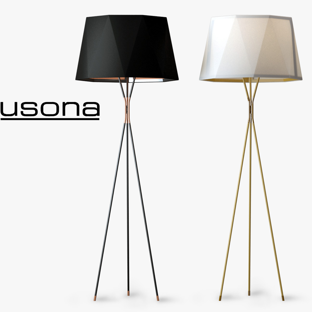 3d Model Usona Floor Lamp 13309