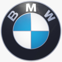 3d model of bmw logo