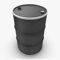 realistic oil barrel black 3d max