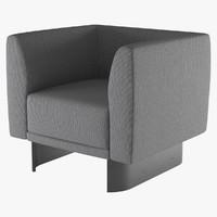 3d armchair tailor la cividina model