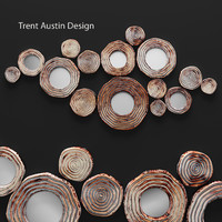 3d circle cluster wall decor model