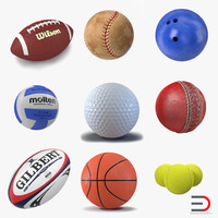 sport balls 3 c4d