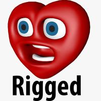 valentine heart c4d